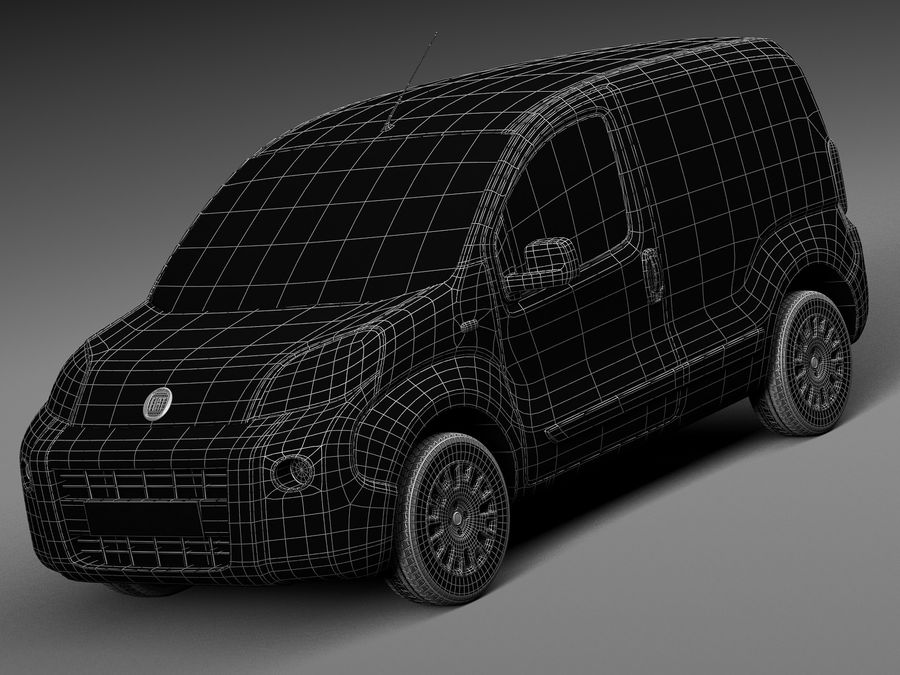 Fiat Fiorino 2008 royalty-free 3d model - Preview no. 15