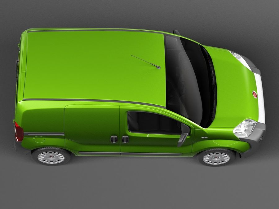 Fiat Fiorino 2008 royalty-free 3d model - Preview no. 8