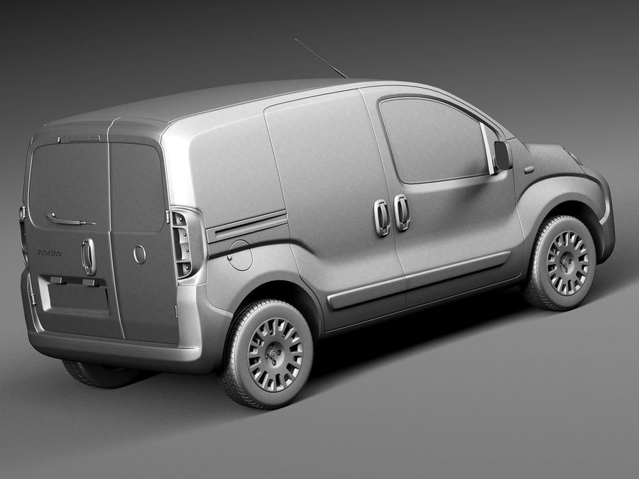 Fiat Fiorino 2008 royalty-free 3d model - Preview no. 12