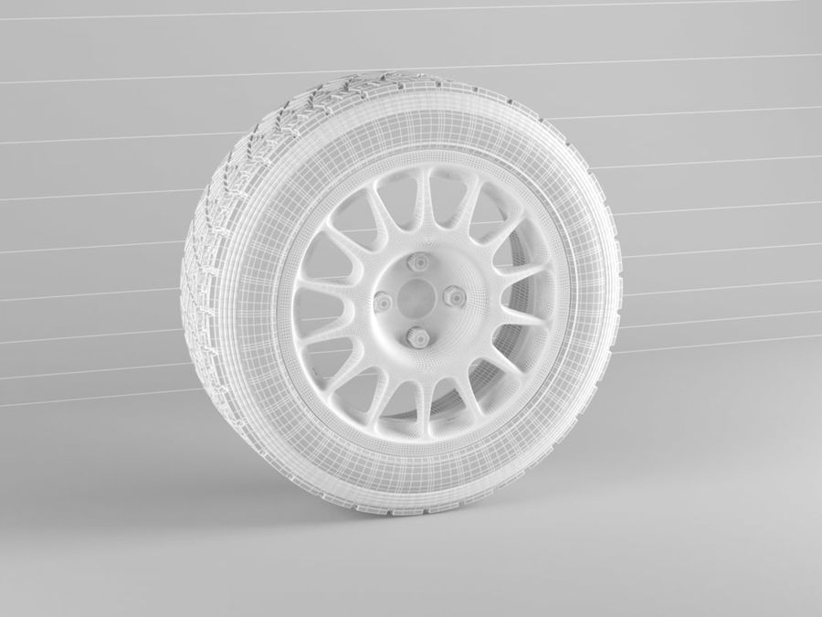 pneu de carro royalty-free 3d model - Preview no. 2