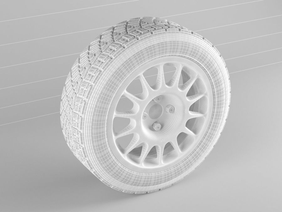 pneu de carro royalty-free 3d model - Preview no. 4