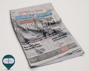 newspaper Corriere Sport 19 3d model