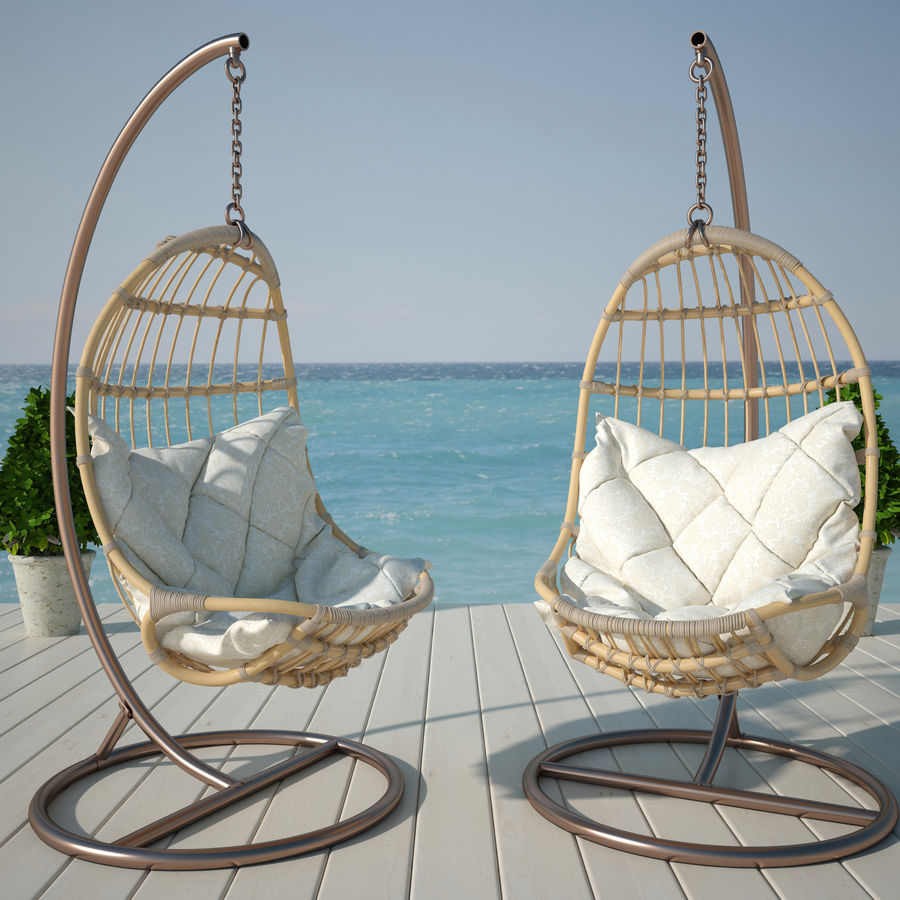 Hanging Chair Royalty Free 3d Model   Preview No. 1