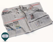 newspaper Corriere Sport 21 3d model