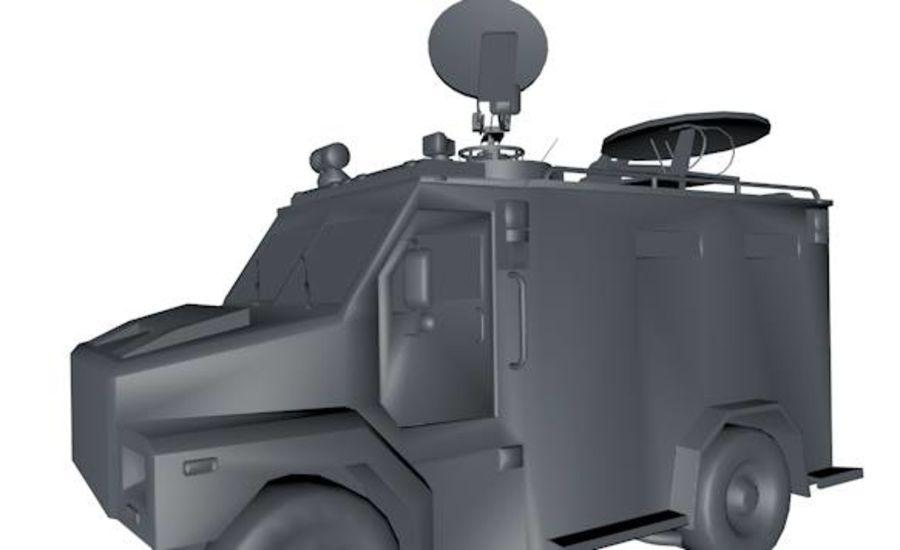 Low Poly News Van royalty-free modelo 3d - Preview no. 2