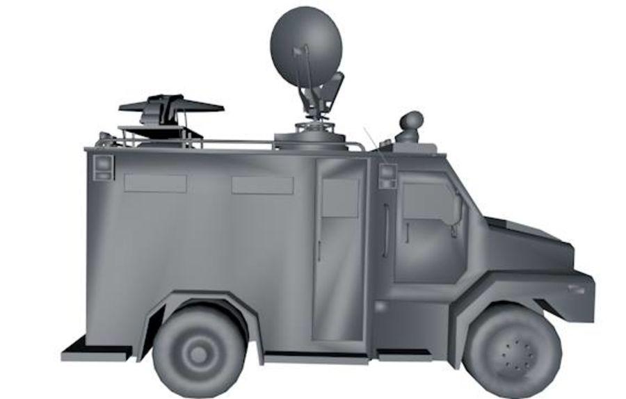 Low Poly News Van royalty-free modelo 3d - Preview no. 5
