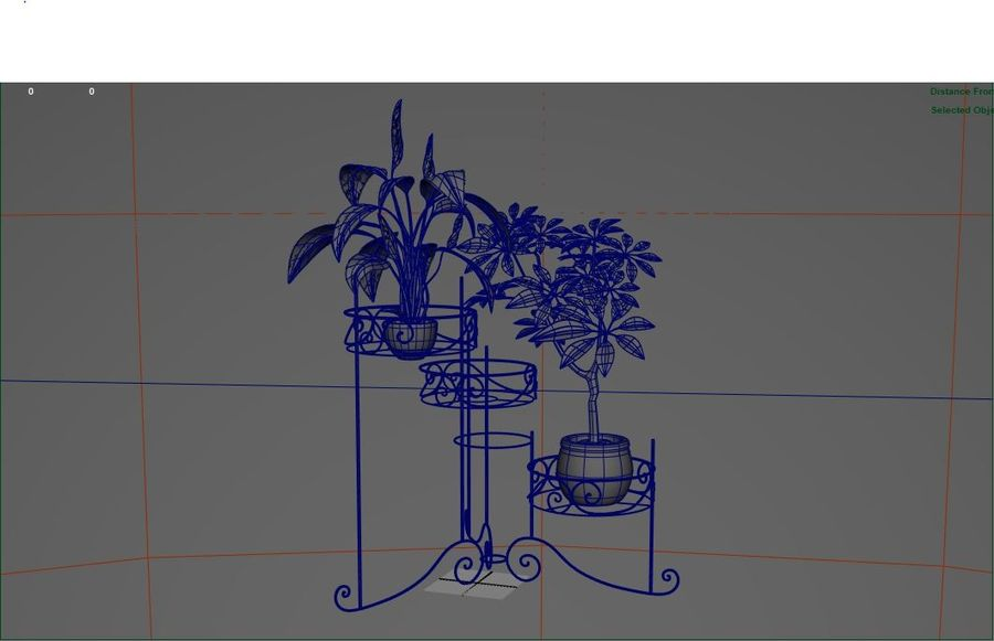 House plants royalty-free 3d model - Preview no. 4
