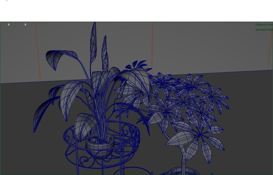 House plants royalty-free 3d model - Preview no. 2