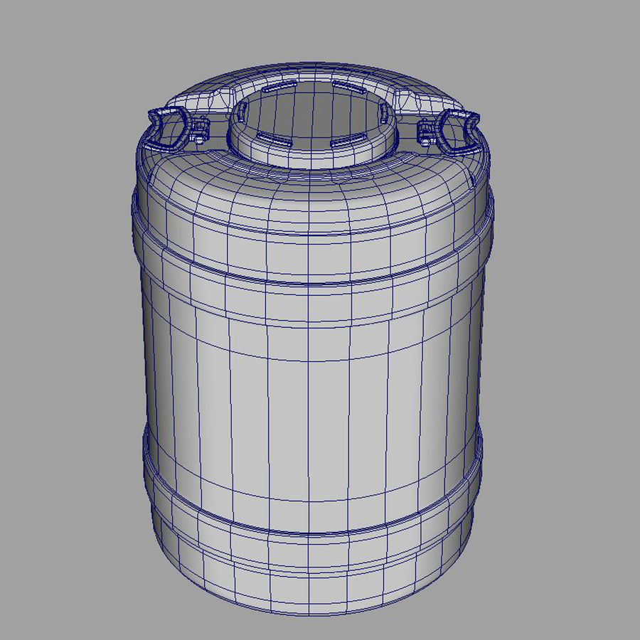 water container medium royalty-free 3d model - Preview no. 6