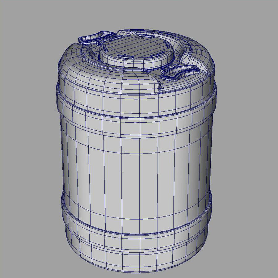 water container medium royalty-free 3d model - Preview no. 4