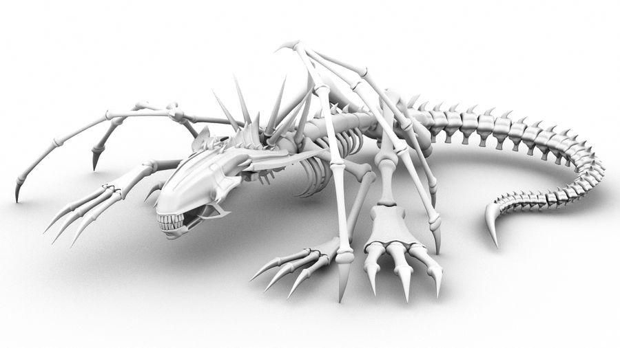Bone Dragon Statue royalty-free 3d model - Preview no. 1