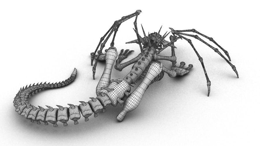 Bone Dragon Statue royalty-free 3d model - Preview no. 5