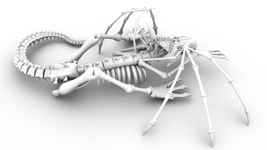Bone Dragon Statue royalty-free 3d model - Preview no. 3