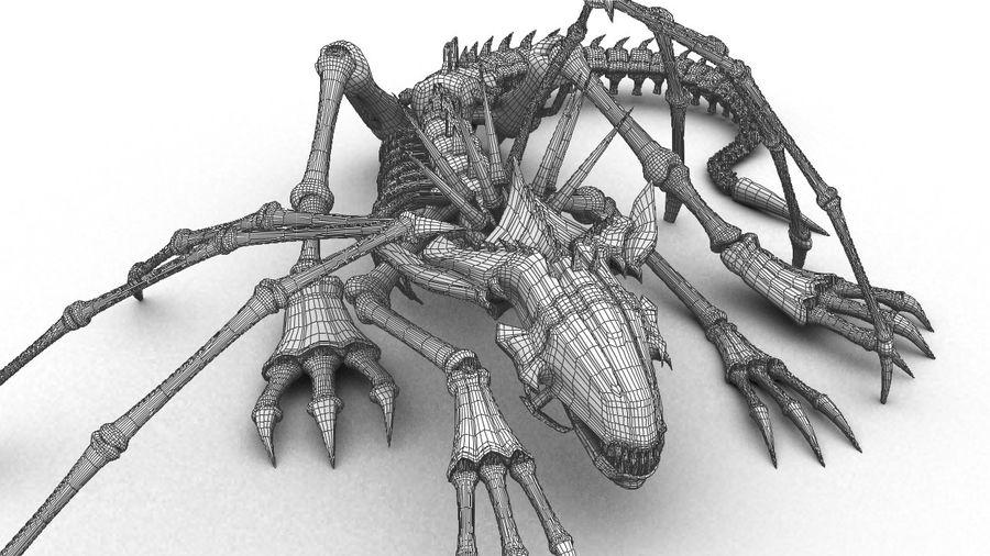 Bone Dragon Statue royalty-free 3d model - Preview no. 4