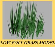 Low Poly Grass 3d model