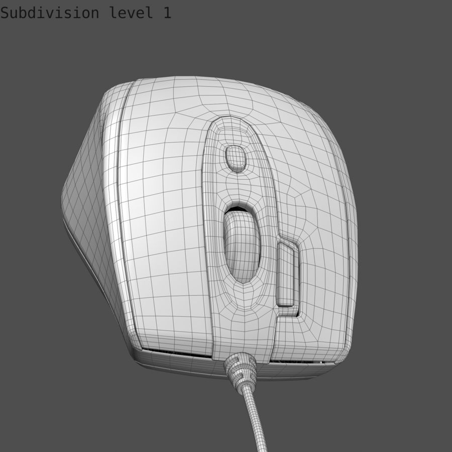 Mouse del computer royalty-free 3d model - Preview no. 10