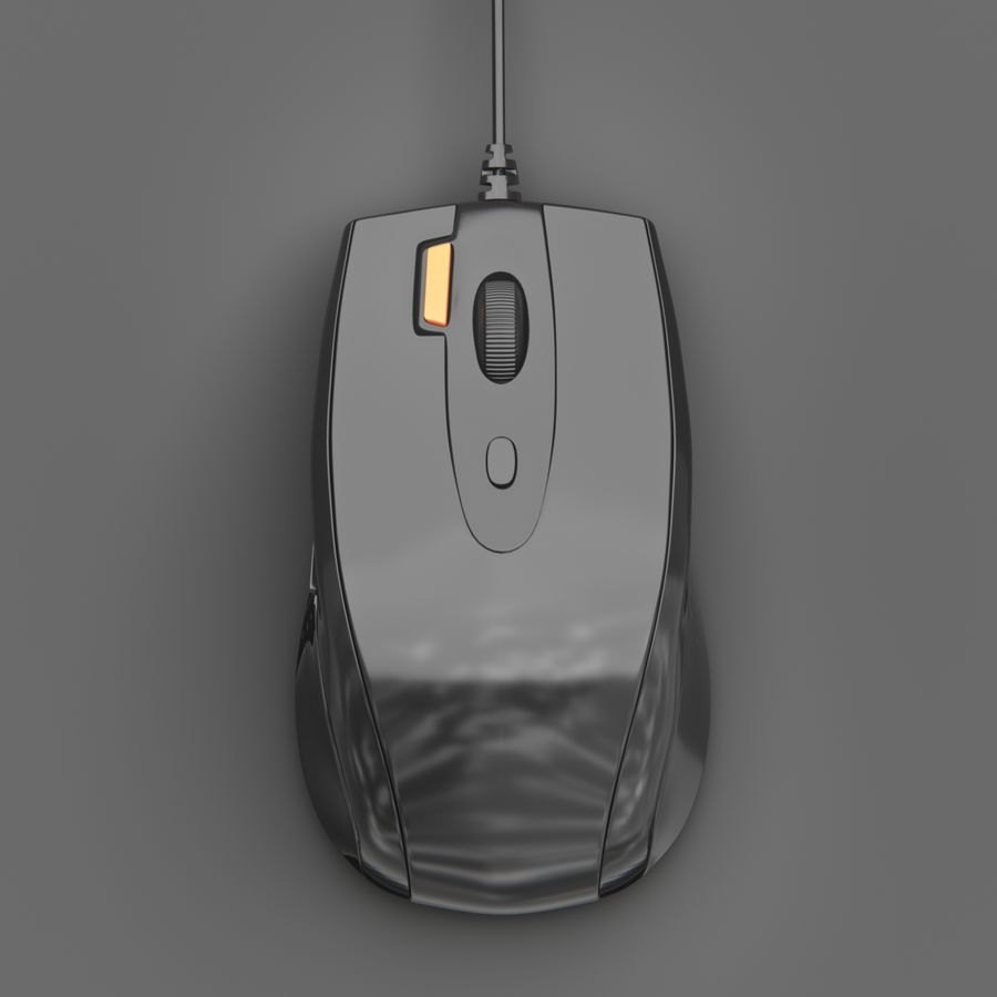 Ratón de computadora royalty-free modelo 3d - Preview no. 2