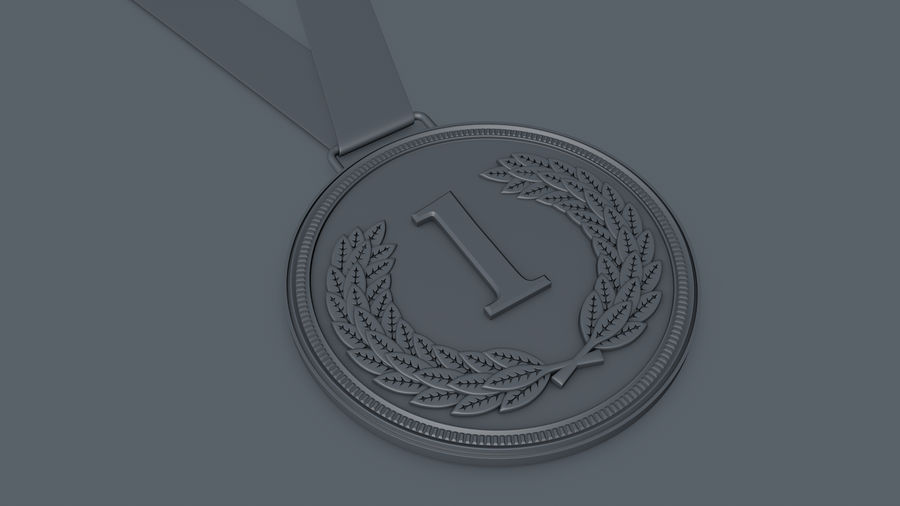 Gold Medal royalty-free 3d model - Preview no. 4