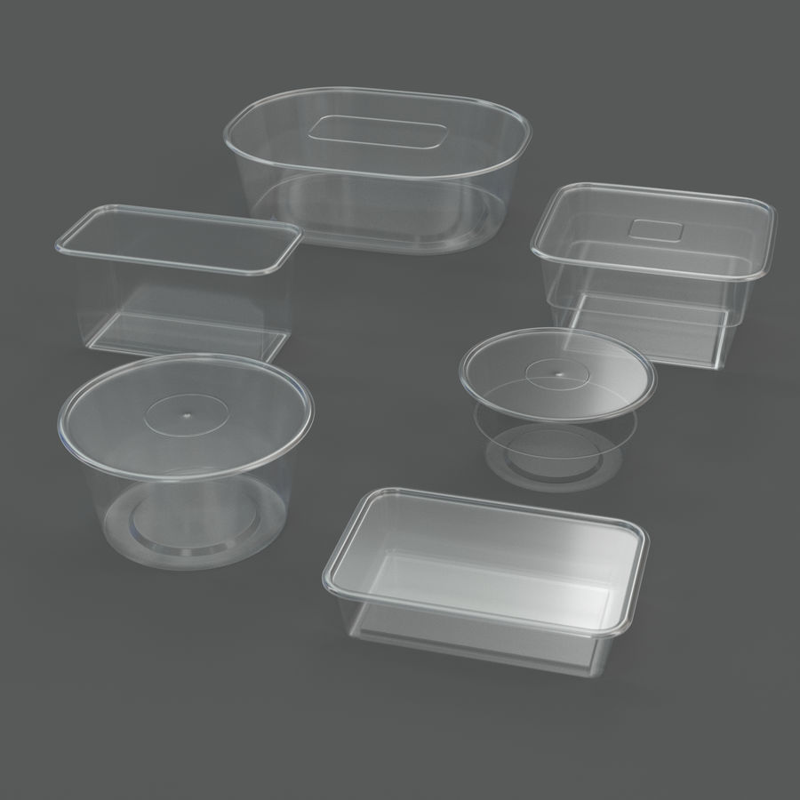 Plastic containers royalty-free 3d model - Preview no. 1