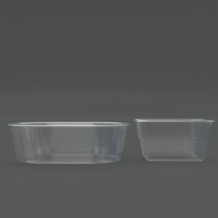 Plastic containers royalty-free 3d model - Preview no. 4