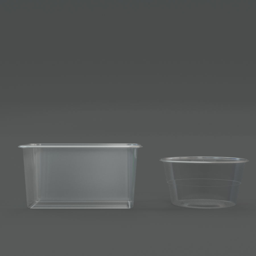 Plastic containers royalty-free 3d model - Preview no. 5