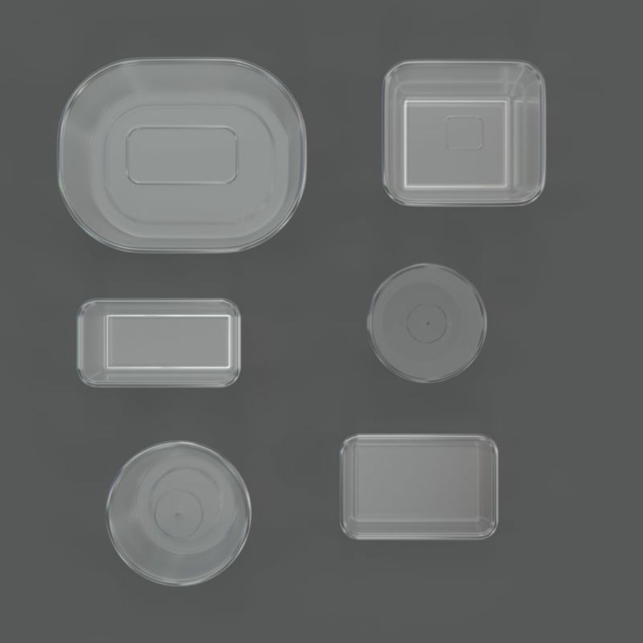 Plastic containers royalty-free 3d model - Preview no. 2