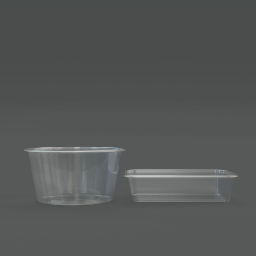 Plastic containers royalty-free 3d model - Preview no. 3