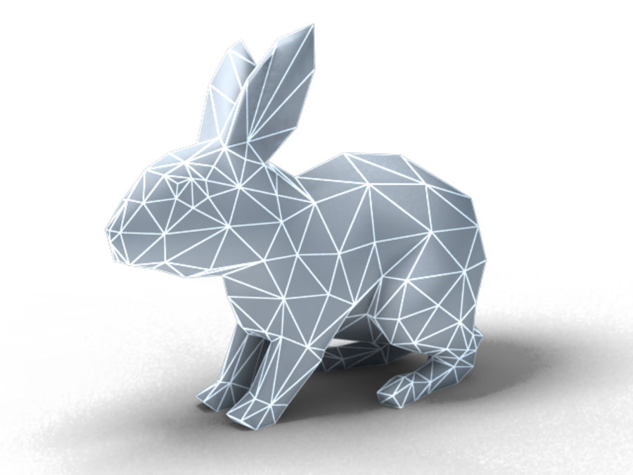 lapin lapin animal lièvre royalty-free 3d model - Preview no. 7