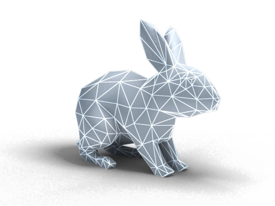 lapin lapin animal lièvre royalty-free 3d model - Preview no. 6