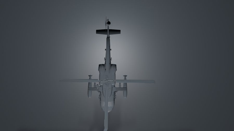 aircraft helicopter royalty-free 3d model - Preview no. 3