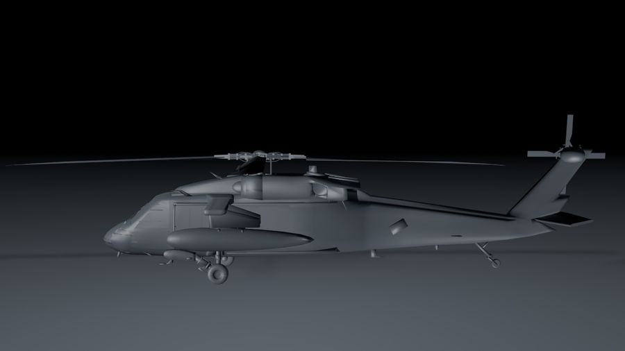 aircraft helicopter royalty-free 3d model - Preview no. 2