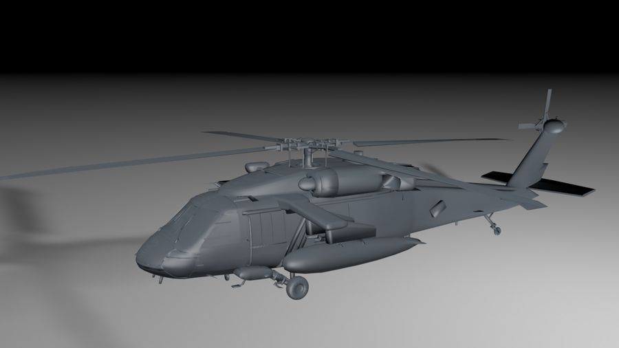 aircraft helicopter royalty-free 3d model - Preview no. 4