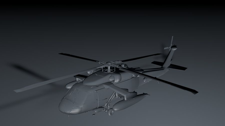 aircraft helicopter royalty-free 3d model - Preview no. 1