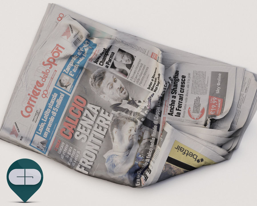 journal Corriere Sport 20 royalty-free 3d model - Preview no. 2