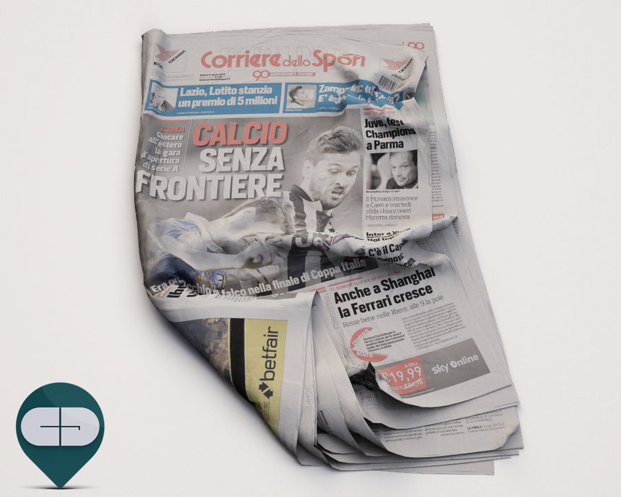 journal Corriere Sport 20 royalty-free 3d model - Preview no. 1