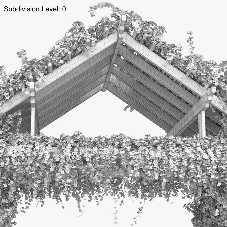 Pergola Climbing Roses With Flowers Ivy Wooden royalty-free 3d model - Preview no. 17