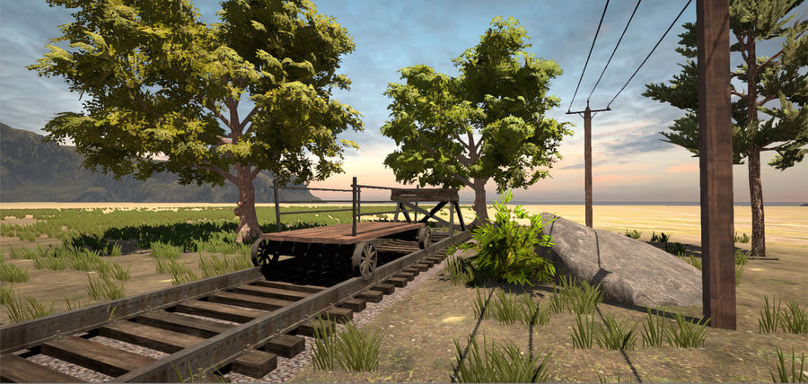 Old Railroads Tracks royalty-free 3d model - Preview no. 4
