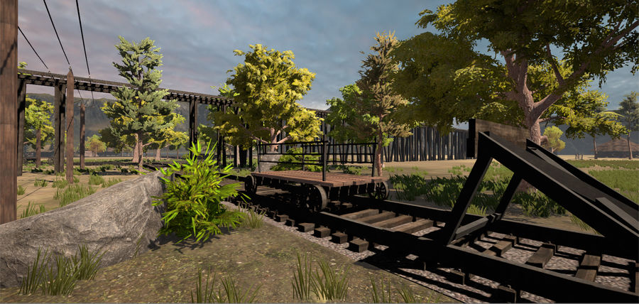 Old Railroads Tracks royalty-free 3d model - Preview no. 8