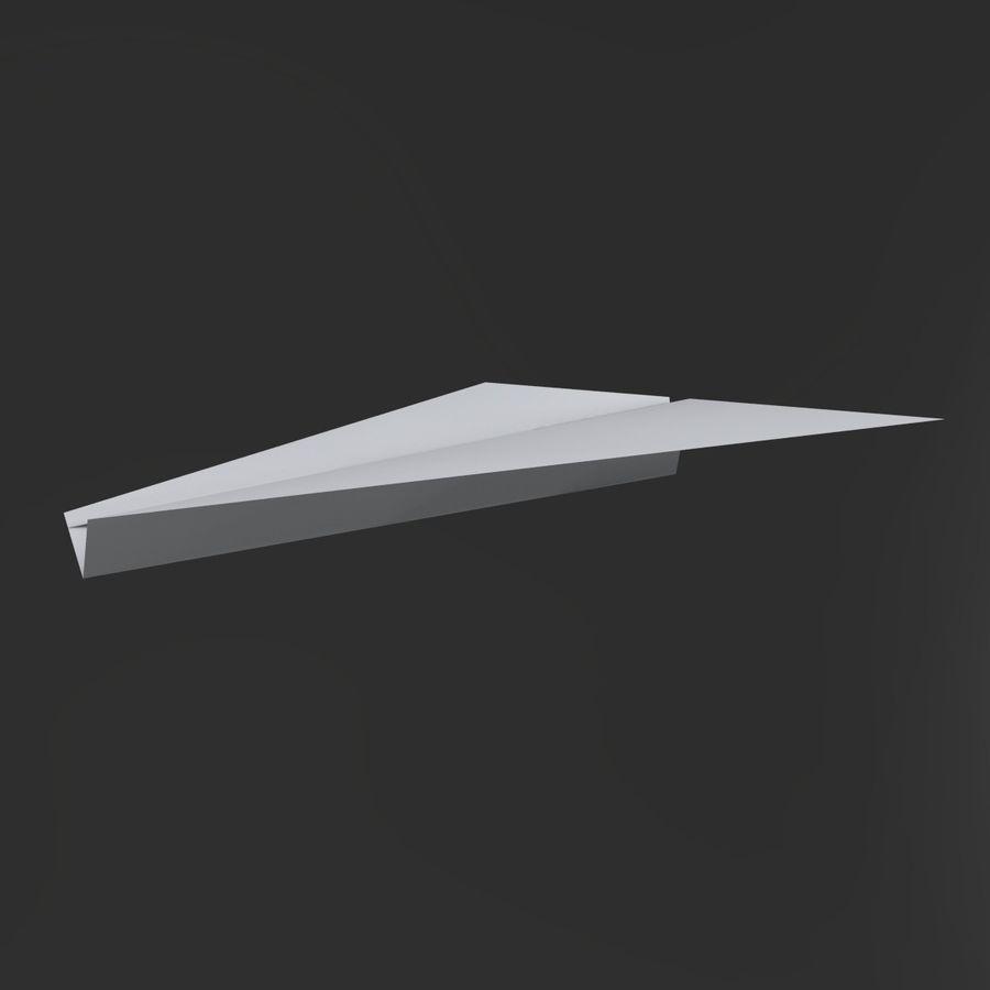 Aereo di carta royalty-free 3d model - Preview no. 7