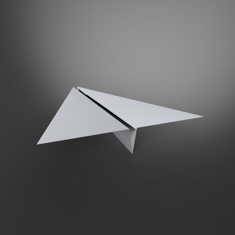 Aereo di carta royalty-free 3d model - Preview no. 5