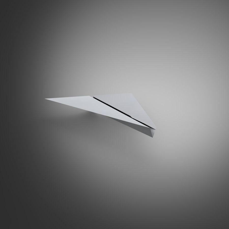 Aereo di carta royalty-free 3d model - Preview no. 3