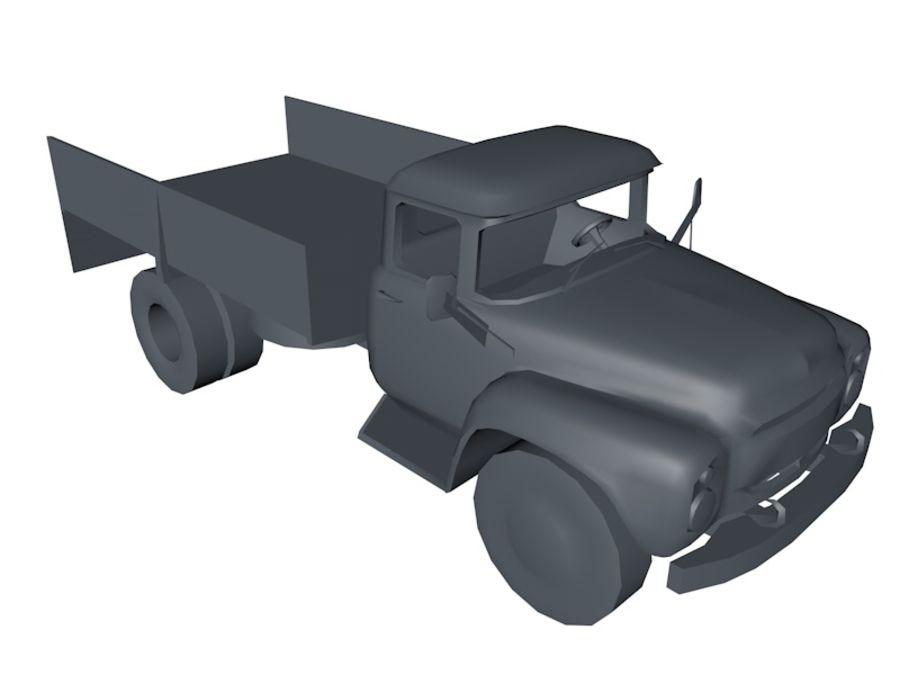 Low Poly Truck Car royalty-free 3d model - Preview no. 1