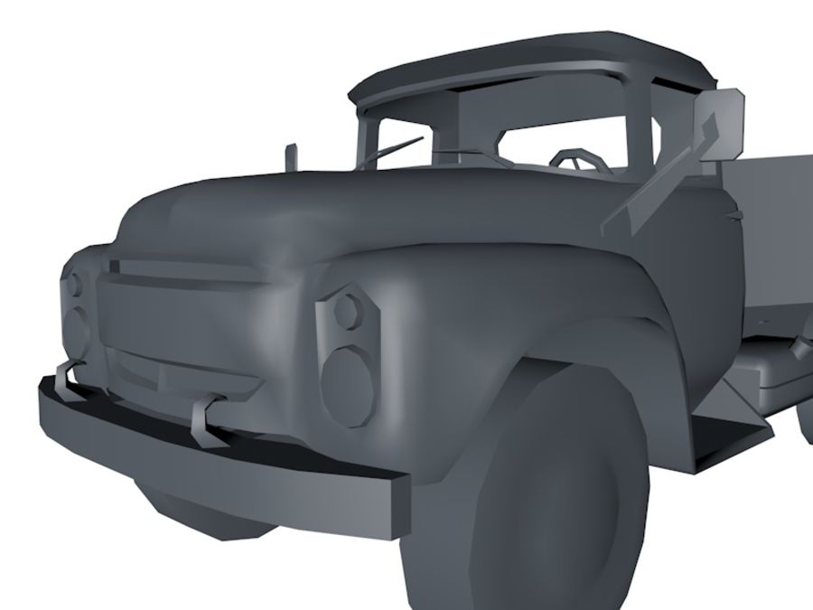 Low Poly Truck Car royalty-free 3d model - Preview no. 2