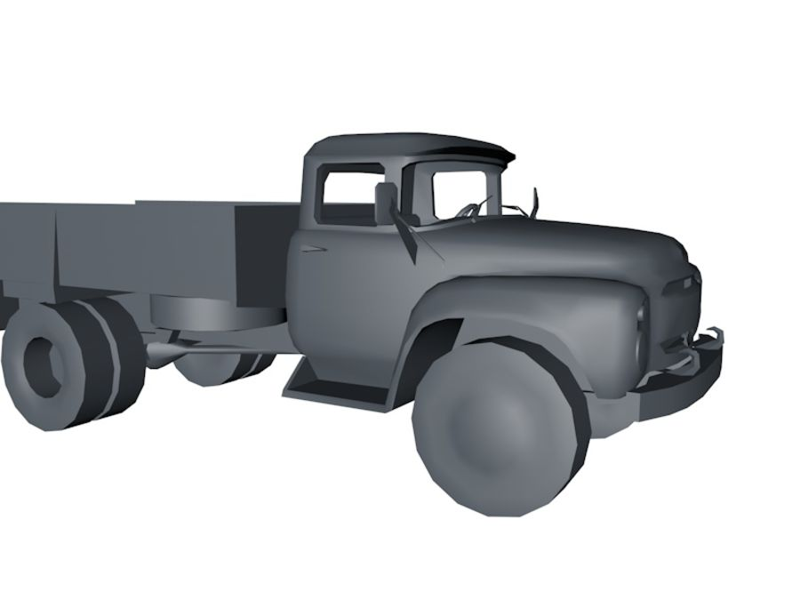 Low Poly Truck Car royalty-free 3d model - Preview no. 3