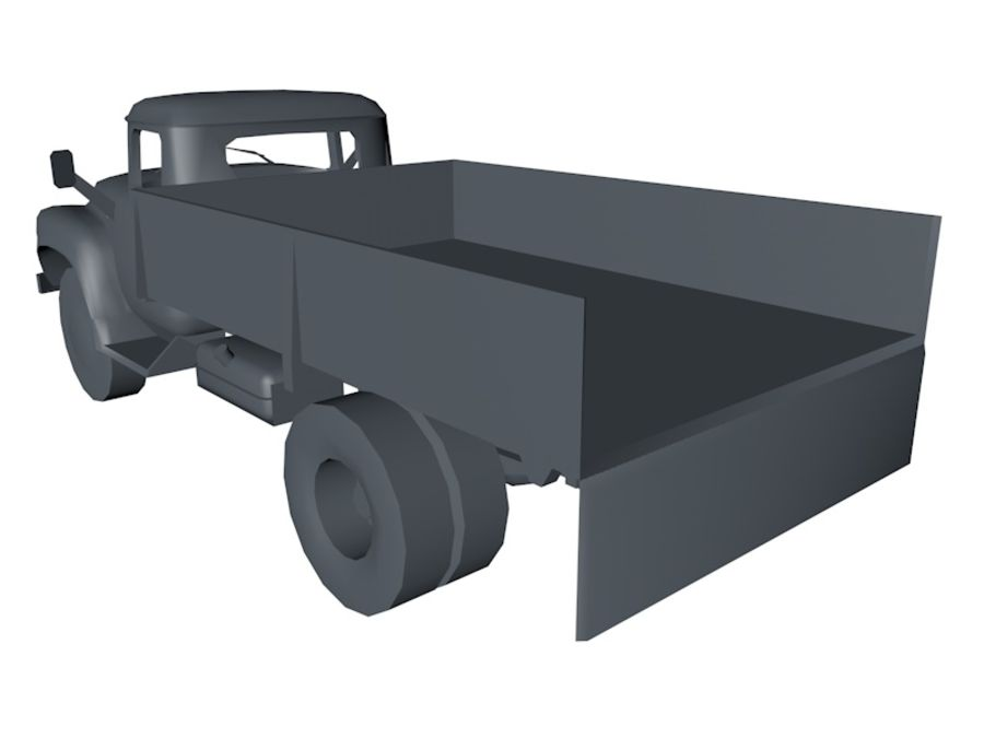 Low Poly Truck Car royalty-free 3d model - Preview no. 5