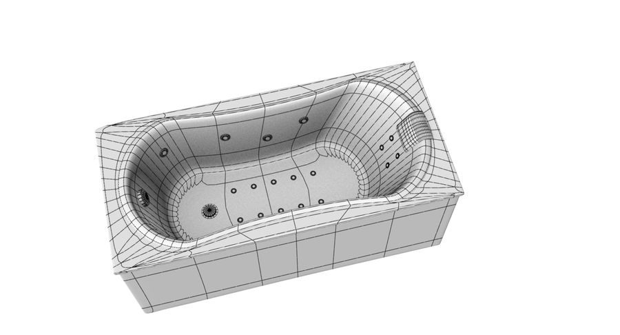 Bathtub royalty-free 3d model - Preview no. 3