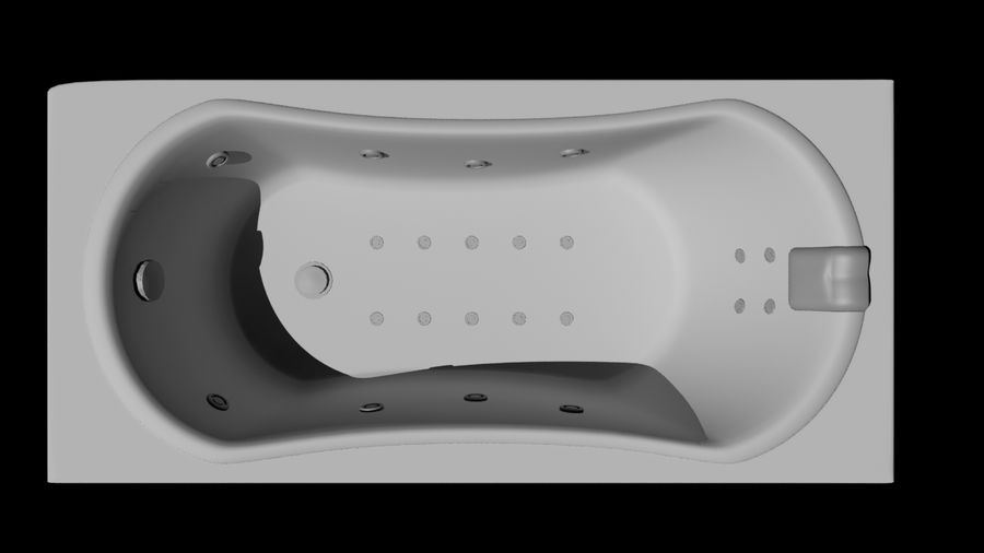 Bathtub royalty-free 3d model - Preview no. 5