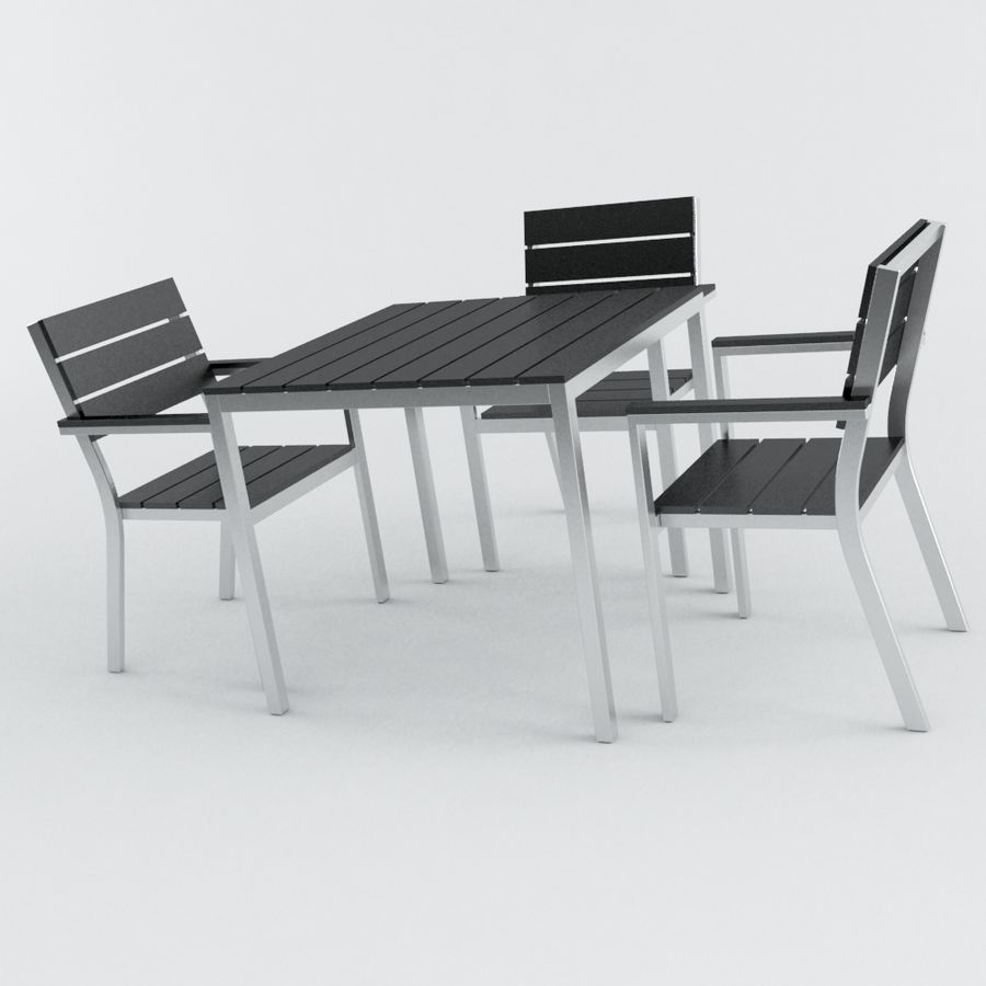 Chairs & Table royalty-free 3d model - Preview no. 1
