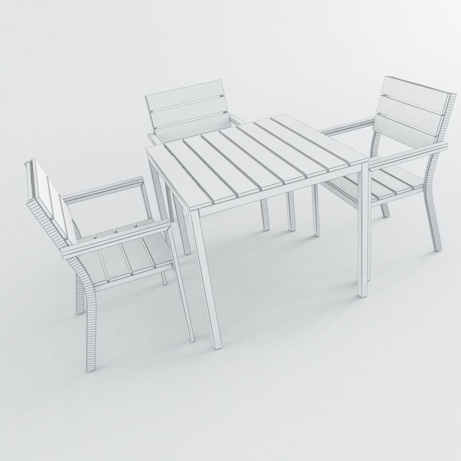 Chairs & Table royalty-free 3d model - Preview no. 4