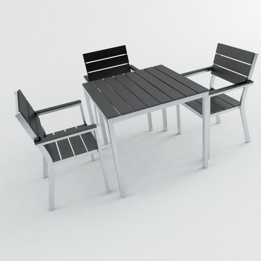 Chairs & Table royalty-free 3d model - Preview no. 3